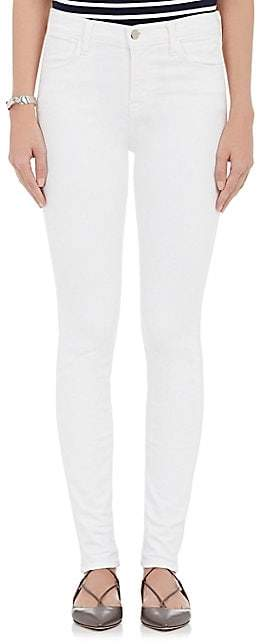 J Brand Women's Maria High-Rise Skinny Jeans - White
