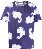 MSGM distorted paisley-print boxy T-shirt