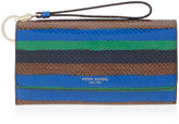 Henri Bendel Uptown Striped Snake Out & About Organizer Wallet
