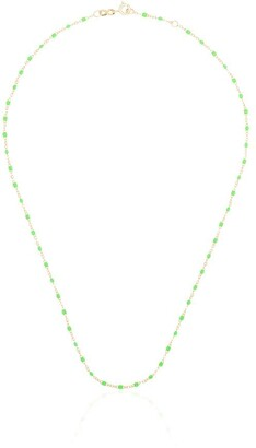 Gigi Clozeau 18K yellow gold and green beaded necklace