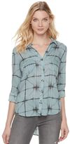 Rock & Republic Women's Tie-Dye Plaid Top