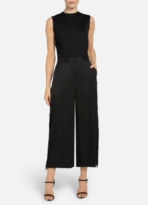 St. John Satin Faced Suiting Cropped Pant