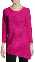 Caroline Rose 3/4-Sleeve Ottoman Angled Tunic, Petite