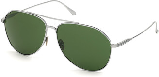 Tom Ford Men's Cyrus Titanium Aviator Sunglasses