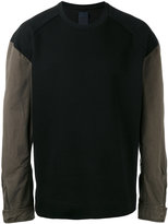 Juun.J contrast sleeve sweatshirt - men - Cotton/Polyester - 46