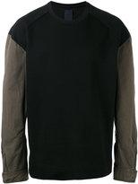 Juun.J contrast sleeve sweatshirt