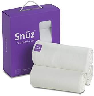 Snuz 3 pc. Crib Bedding Set White - SnuzPod & All Bedside Cribs - Size 35x80cm - 50x90cm