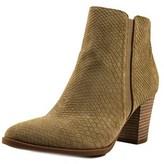 Franco Sarto Dipali Women Round Toe Leather Tan Ankle Boot.