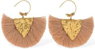 Elise Tsikis Agia Pink Tassels Hammered Earrings
