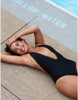 aerie Lace Trim One Piece Swimsuit