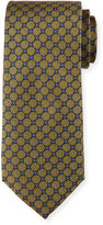 Neiman Marcus Connect Circles Silk Tie, Gold