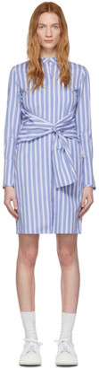Victoria Victoria Beckham Blue and White Shirt Dress