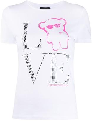 Emporio Armani Love embellished T-shirt