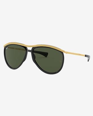 Express Ray-Ban Olympian Black Aviator Sunglasses