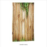 Vipsung Microfiber Ultra Soft Hand Towel-Rustic Decor Fresh Spring Grass And Leaf Plant Over Old Wood Fence Garden Field Photo Green Brown For Hotel Spa Beach Pool Bath