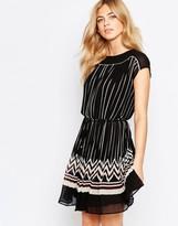 Oasis Pleat Stripe Dress