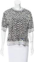 By Malene Birger Embellished Short Sleeve Top