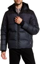 Elie Tahari Hooded Hybrid Down Jacket