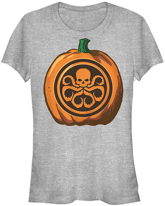 Fifth Sun Women's Tee Shirts ATH - Athletic Heather Skull Pumpkin Tee - Women & Juniors