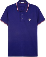 Moncler Blue Piqué Cotton Polo Shirt