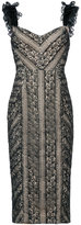 Rebecca Vallance Lou Lou lace ruffle dress - women - Viscose - 10