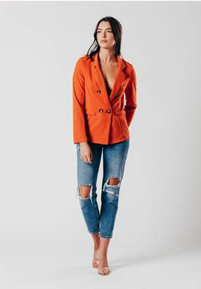 Oeuvre Orange Blazer with 4 buttons