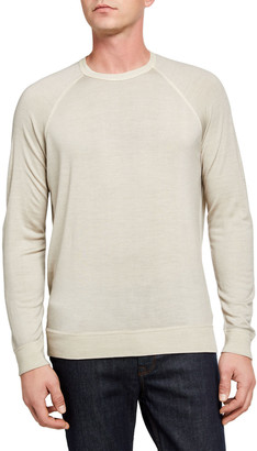 Drumohr Men's Merino Wool Raglan Knit Sweater