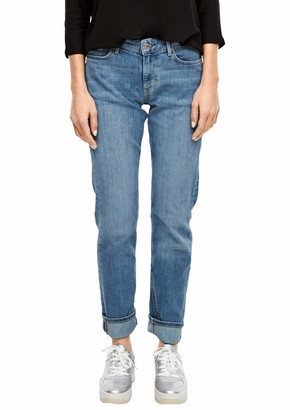 S'Oliver Women's 04.899.71.6069 Hose Lang Straight Jeans