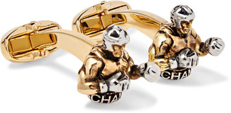 Paul Smith Gold And Silver-Tone Cufflinks