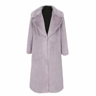 NKJGFV Womans Plus Size Faux Fur Coat Yellow Black Grey Fluffy Teddy Coat