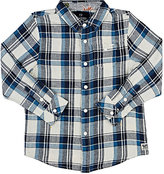 Scotch Shrunk Plaid Linen-Cotton Shirt