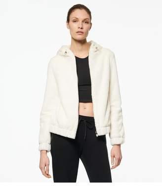 Andrew Marc Julie Faux Mink Bubble Hooded Jacket