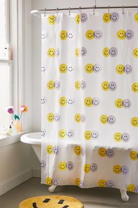 Happy Face PEVA Shower Curtain