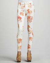 Hudson Nico Super-Skinny Rose-Print Jeans