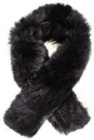 Black Baby Alpaca Fur Scarf