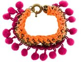 Matthew Williamson Pom Pom Chain Bracelet