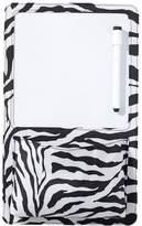 Pottery Barn Teen Gear Up Dry Erase Board + Pocket, Black Zebra