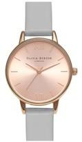 Olivia Burton **Midi Dial Grey N Rose Gold Watch