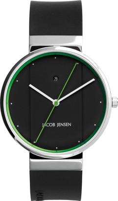Jacob Jensen Unisex-Adult Analogue Quartz Watch with Rubber Strap JJ777