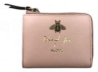 Gucci Queen Margaret Pink Leather Wallets