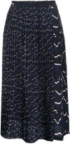 Markus Lupfer printed pleat skirt