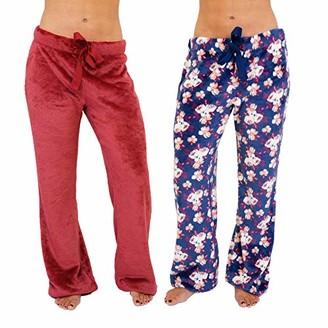 Cherokee Women's 2-Pack Soft Fleece Pajama Pants Sleepwear