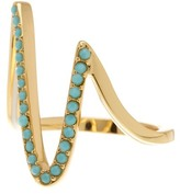 Ariella Collection Zig Zag Pave Ring