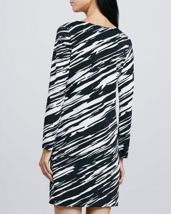 Trina Turk Neva Zebra-Print Jersey Dress