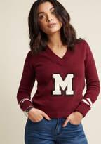 ModCloth Varsity V-Neck Pullover Sweater in 3X