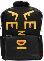 Fendi Face Nylon & Leather Backpack