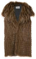 Yves Salomon wide lapel waistcoat - women - Fox Fur/Polyamide/Polyester/Viscose - 36