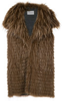 Yves Salomon wide lapel waistcoat