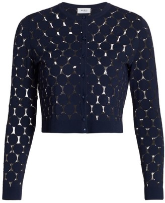 Akris Punto Knit Dot Lace Cardigan