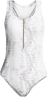 Heidi Klein Core Snakeskin-Print One-Piece Swimsuit
